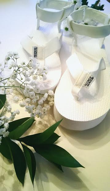 Teva Flatform Sandal-White-£45.00