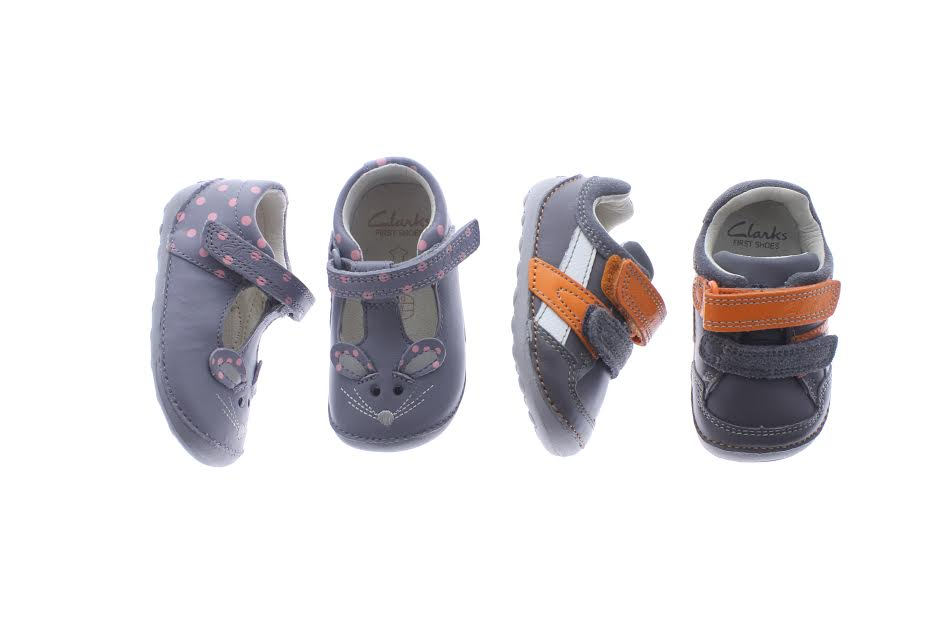 Clarks Little Pip £26.00 and Clarks Tiny Zakk from£13.00