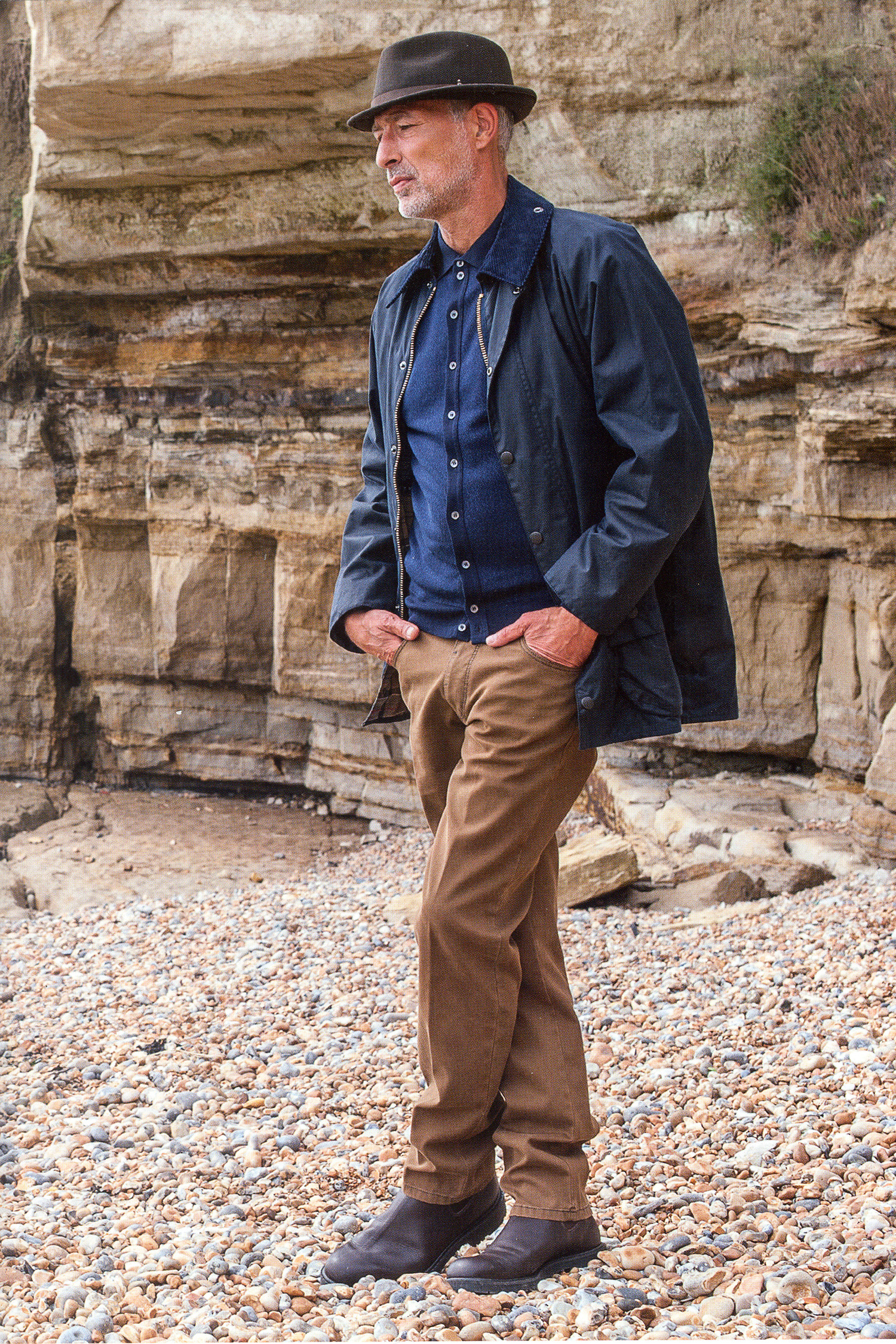 Barbour 'Beaufort' wax jacket £239 and RM Williams 'Stockyard' boots £180
