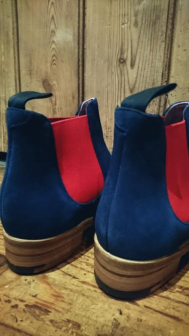 Barker Violet in navy/red £225.