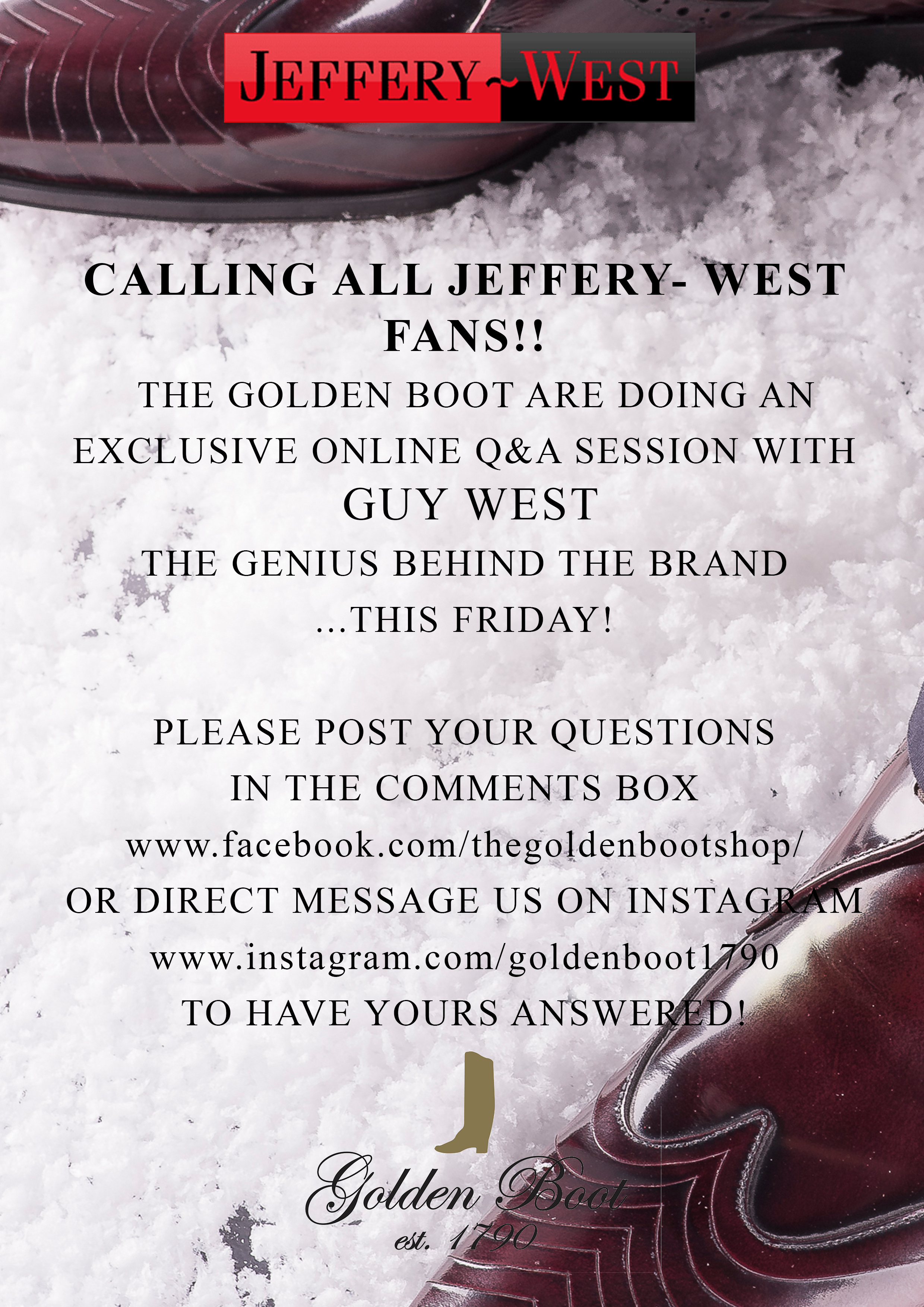 Jeffery-West Q&A! Have your questions answered!