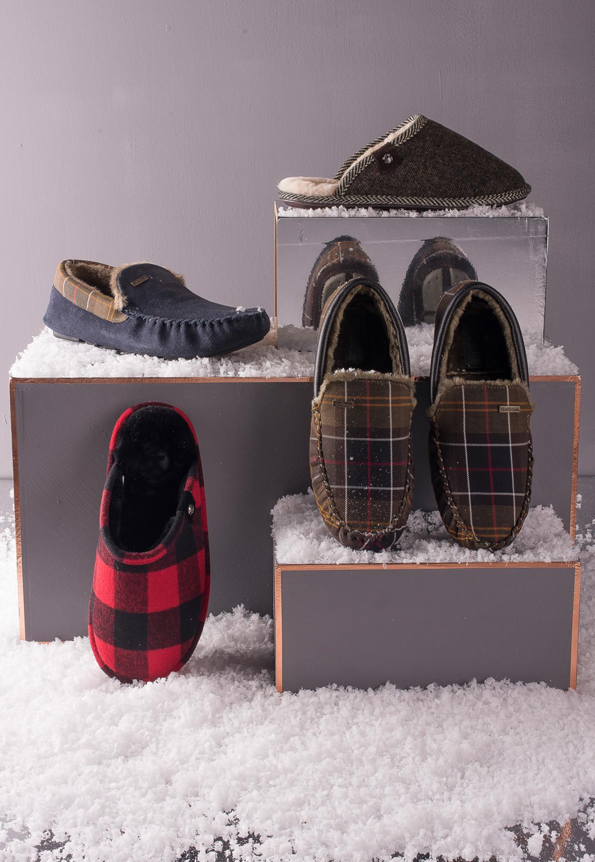 Our Men's Christmas slipper range – you'll never leave the house again!