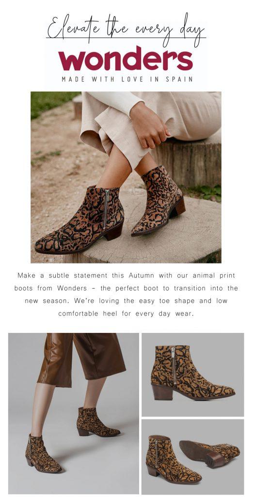 Wonders G-5902 Leopard Print Boots