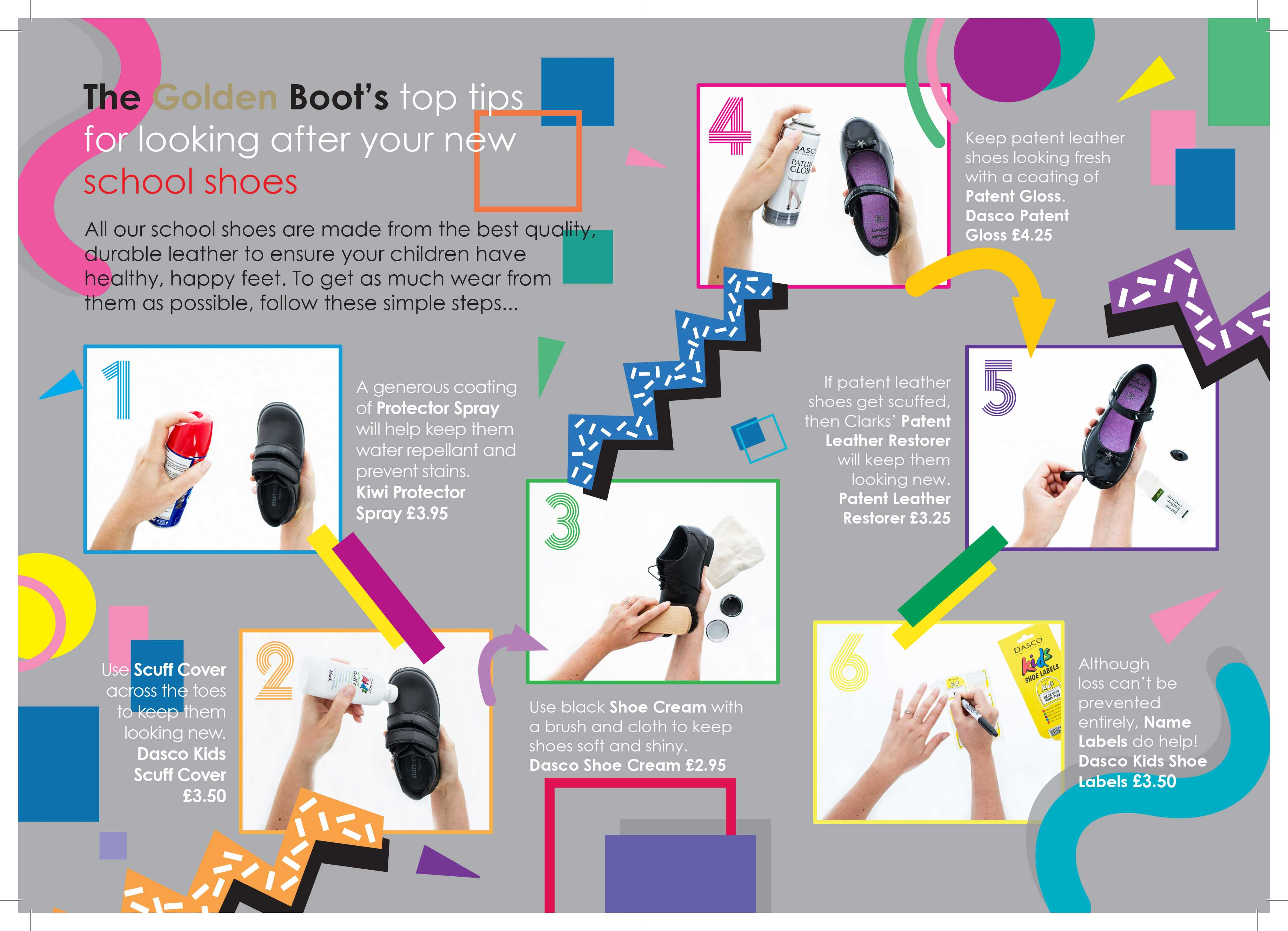Top tips for looking after School Shoes!