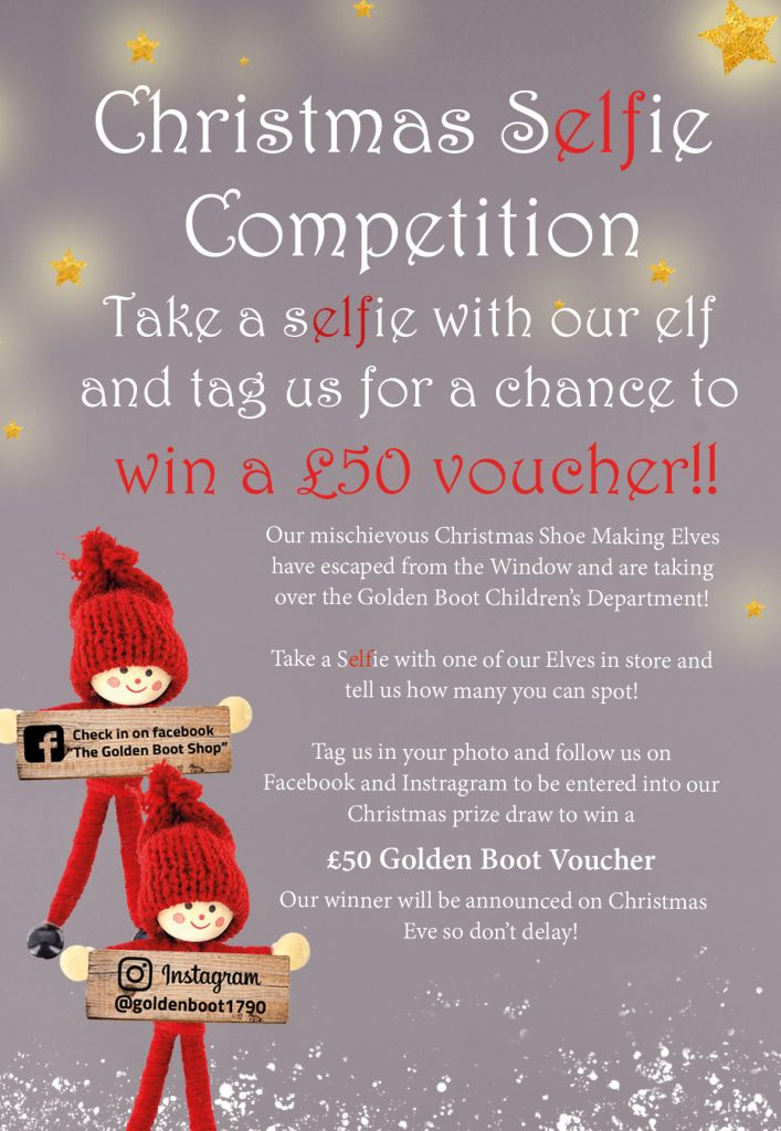 The Golden Boot Christmas sELFie competition – WIN A £50 VOUCHER!